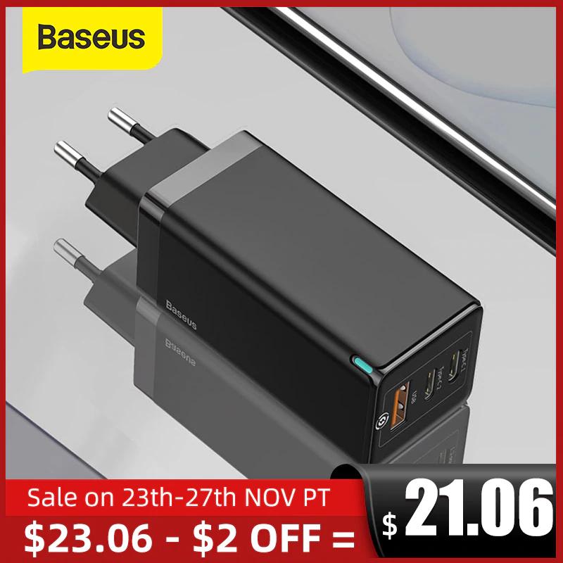 Ładowarka Baseus 65W GaN   QC4.0 USB-C PD-Charge   Dostawa z PL