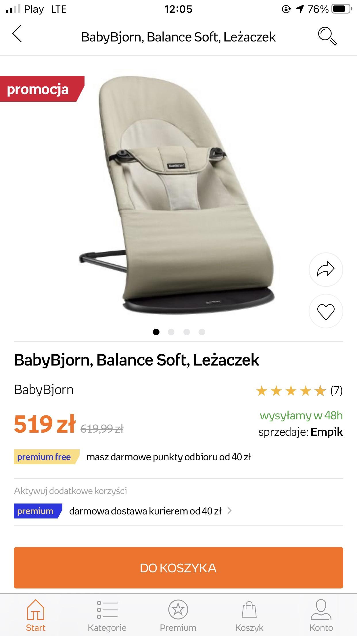 Babybjörn Babybjorn Balance Soft przecena w Empik