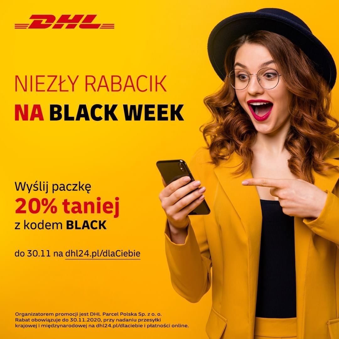 Black Week w DHL 20% rabatu na nadanie paczki