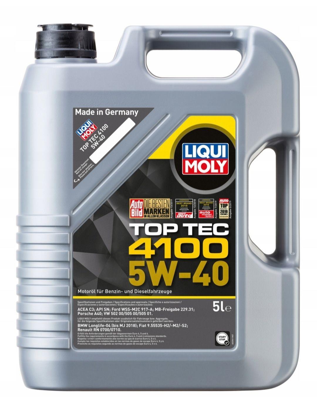 LIQUI MOLY TOP TEC 4100 5W40 5L 3701 2686 CNG LPG