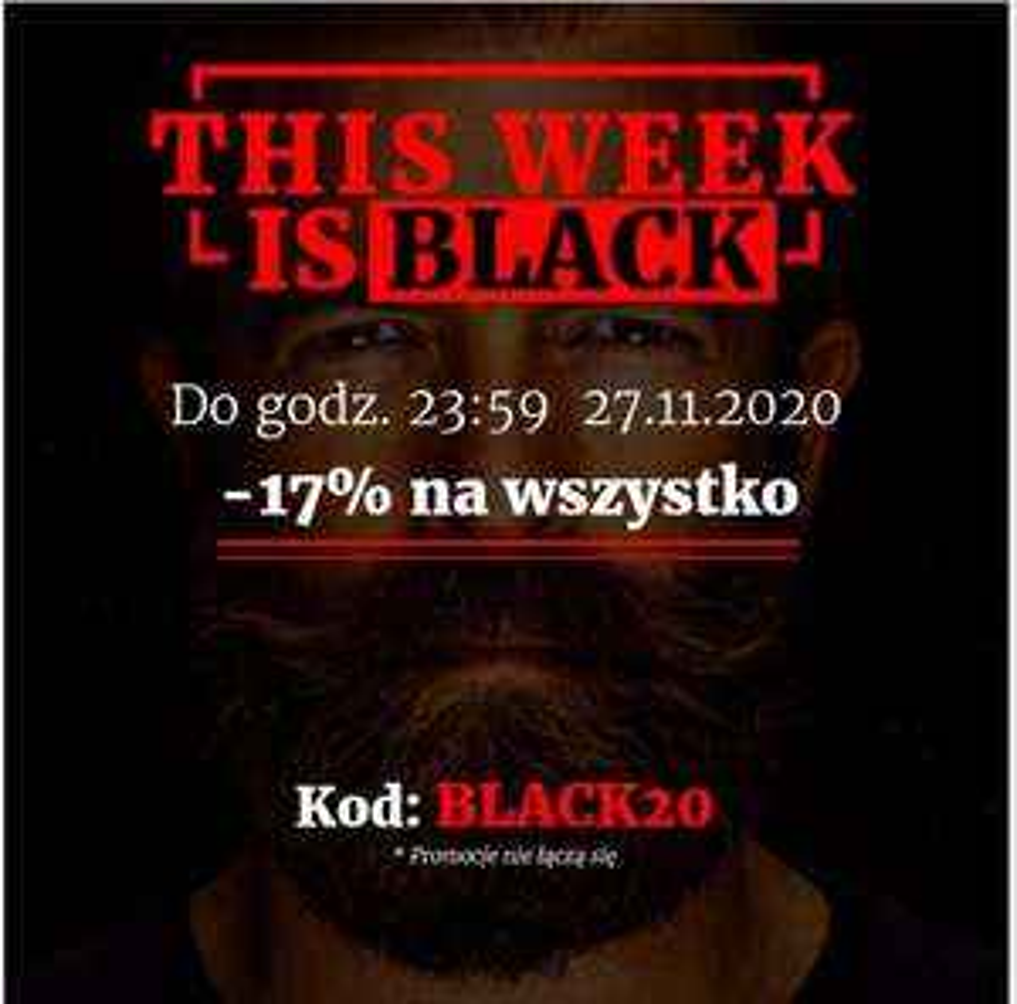 Beardman -17% na wszystko z okazji Black Week