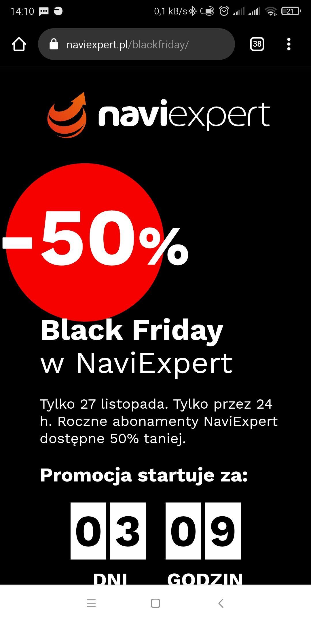 NaviExpert -50% ma roczne abonamenty