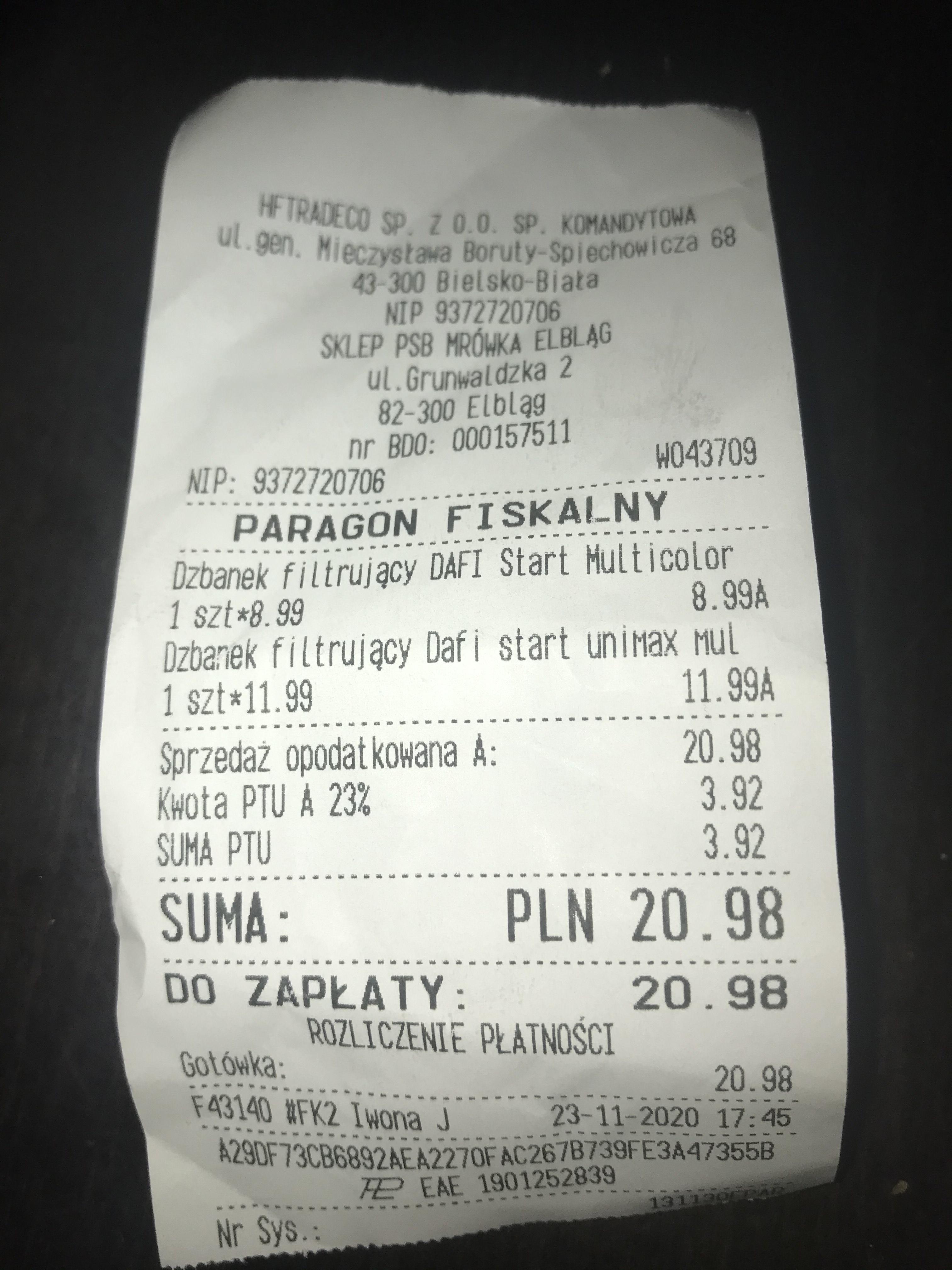 Dzbanki DAFI od 8,99 PSB MRÓWKA