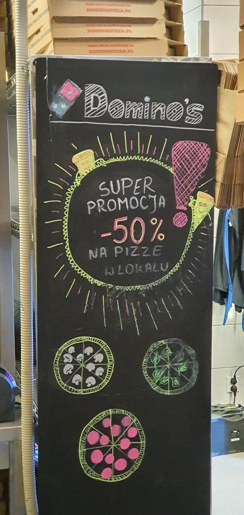 Domino's Pizza -50% przy odbiorze w lokalu (Warszawa)