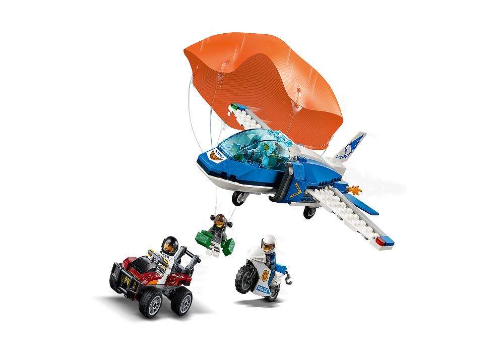 LEGO City, klocki Aresztowanie spadochroniarza, 60208