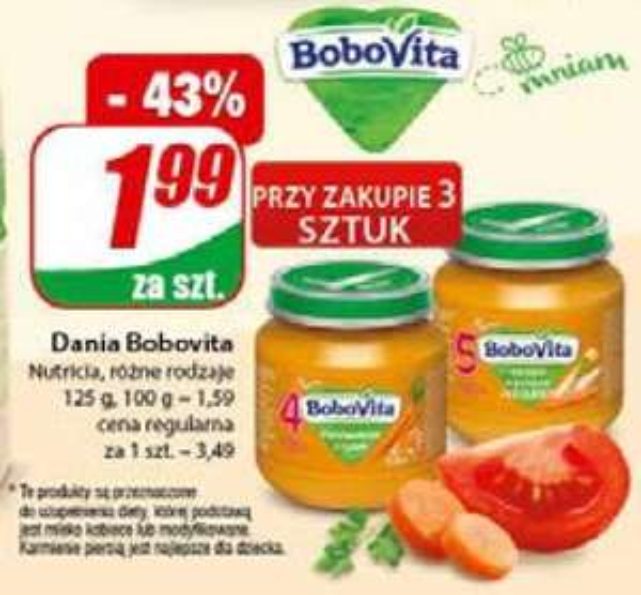 Dania BoboVita 125g (różne rodzaje - cena przy zakupie 3szt.) - DINO