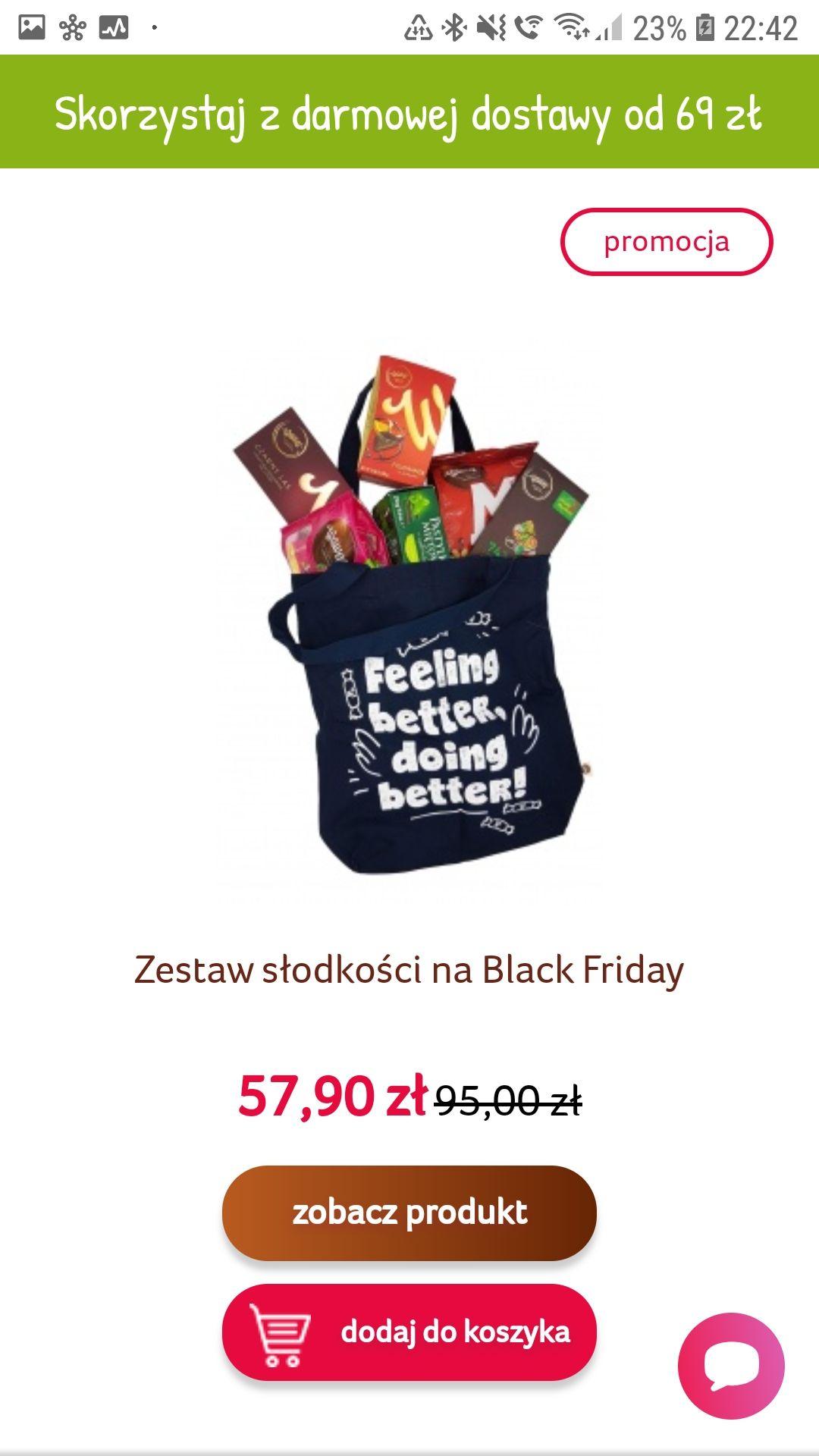 Zestaw słodyczy Wawel w granatowej torbie Black Week