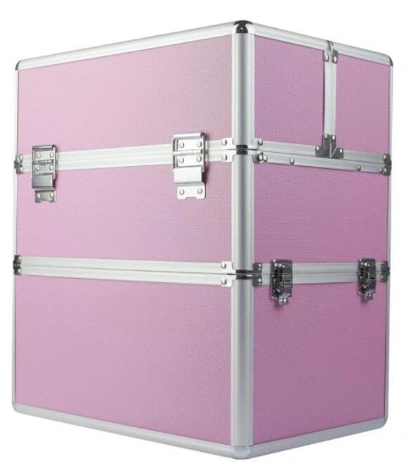 Duży kuferek kosmetyczny (na lakiery + lampa) czarny premium