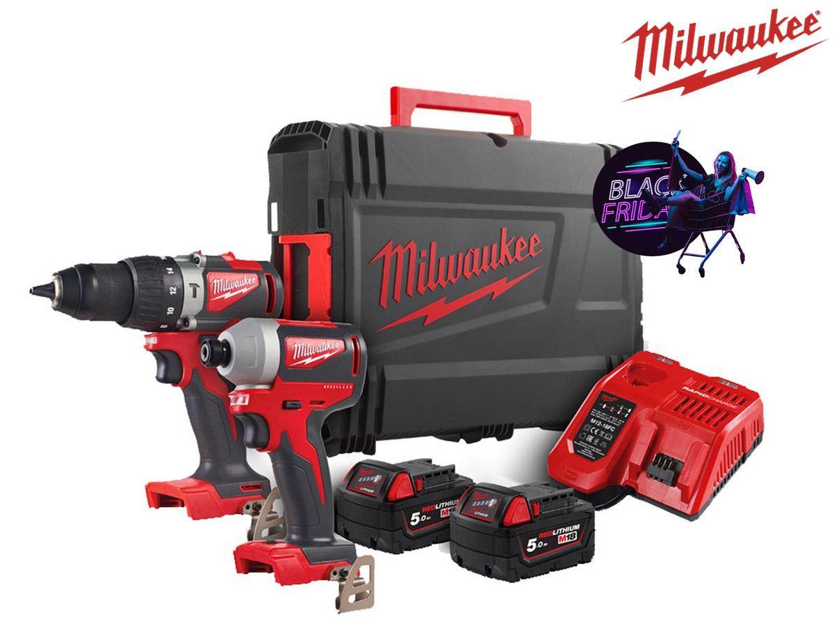 Zestaw Milwaukee M18BLPP2A2-502X