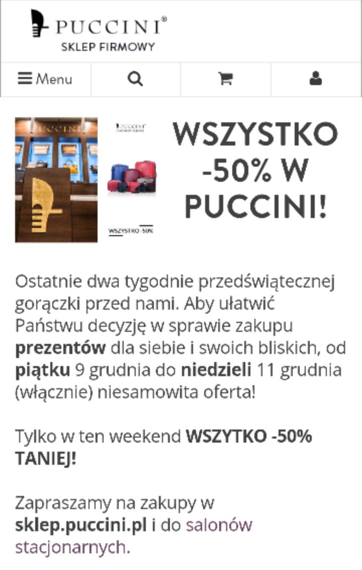 Wszystko -50% @Puccini