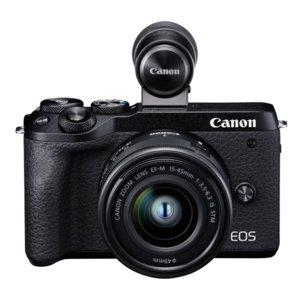 Aparat CANON EOS M6 Mark II+ EF-M 15-45mm 3.5-6.3 IS STM + EVF (wizjer elektroniczny)