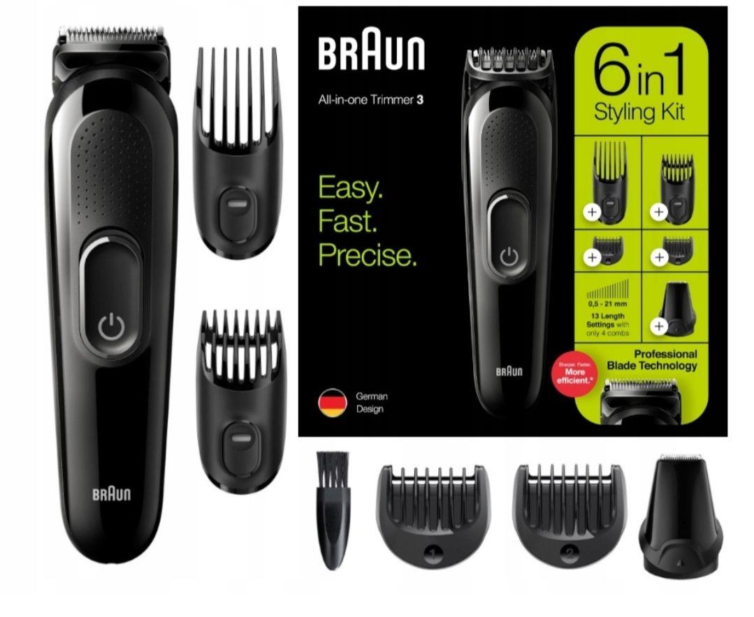 BRAUN MGK3220 maszynka trymer do włosów black week