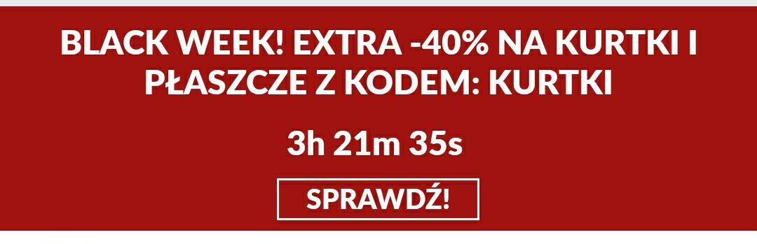 -40% na kurtki i płaszcze- BORN2BE