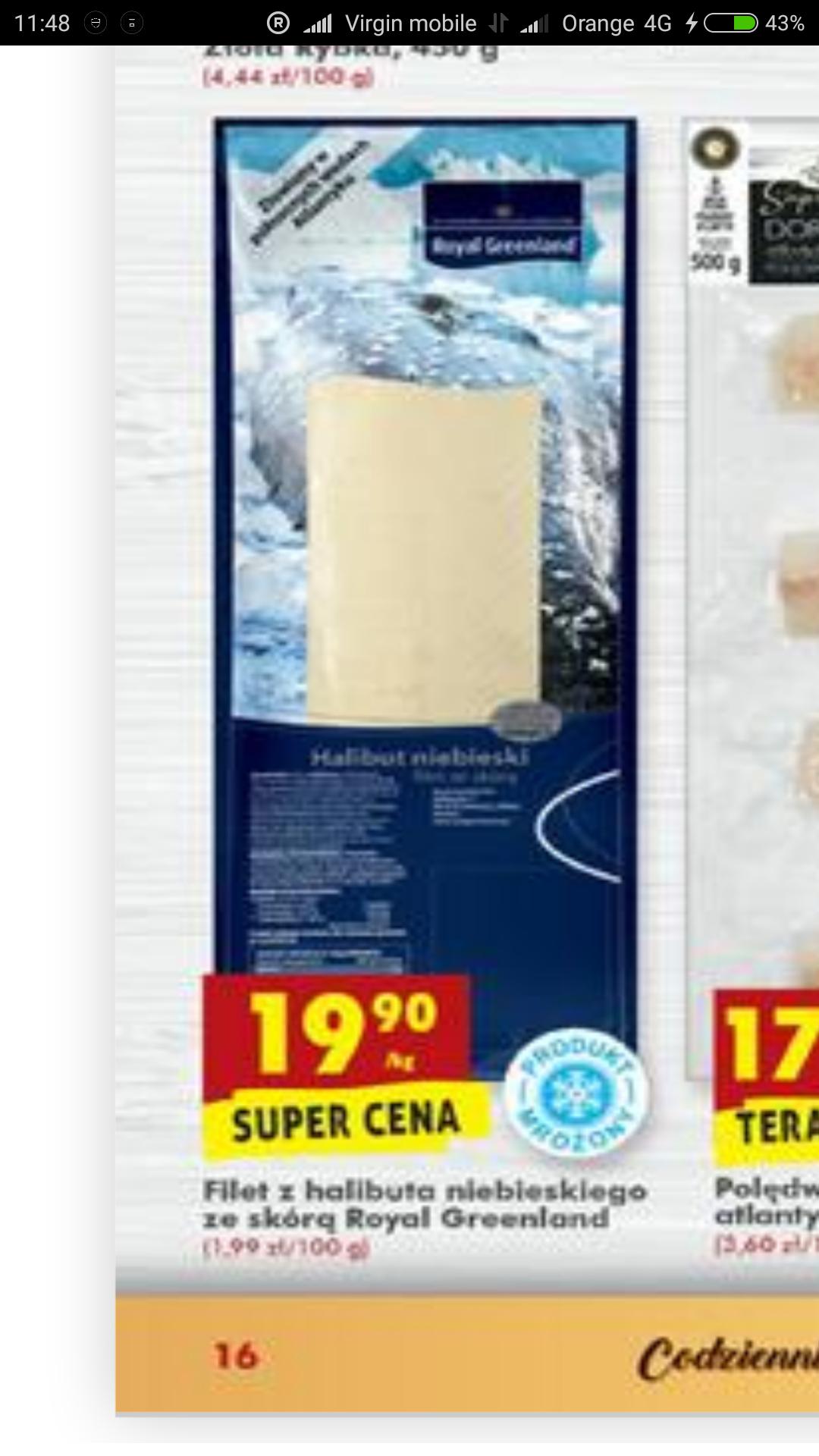 Halibut filet ze skórą Biedronka - 1/3 ceny!