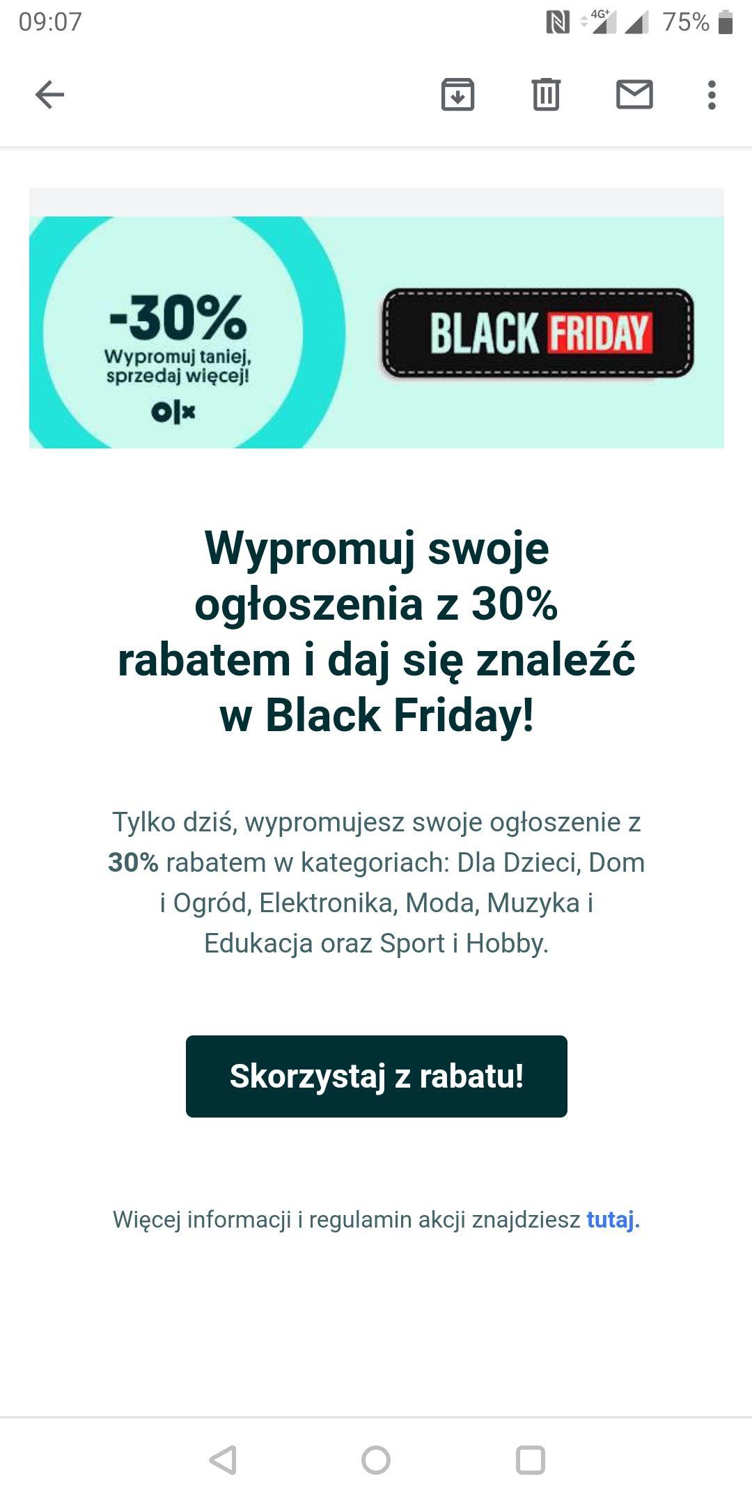30% rabatu na wyróżnienie na OLX.pl