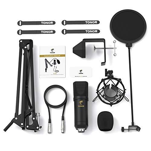 Zestaw mikrofonu pojemnościowego TONOR XLR plus kod rabatowy -15% 47,99€