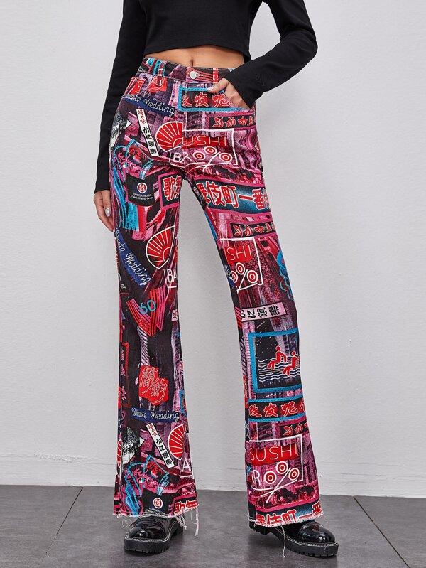 Spodnie w stylu dzieci kwiaty :)