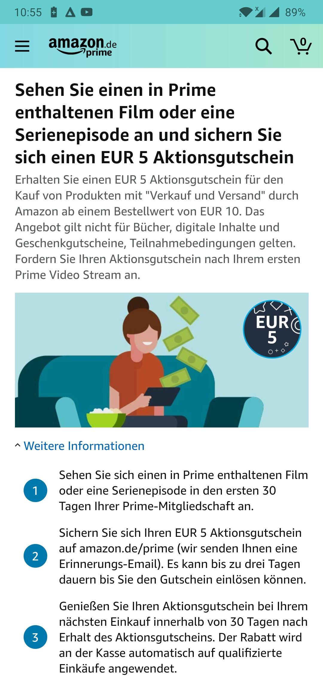 Amazon.de -5€ za obejrzenie czegoś na Prime