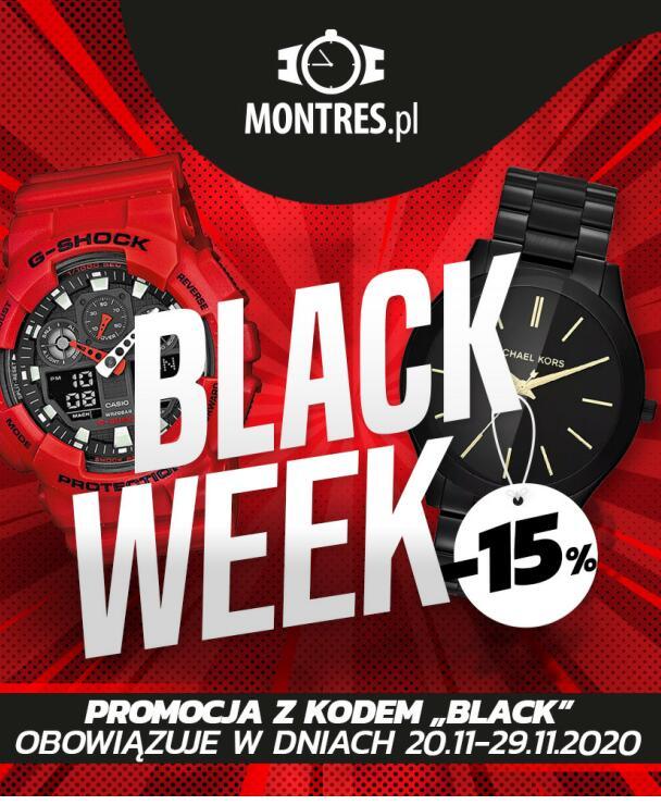BLACK WEEK -15% na zegarki@montres.pl