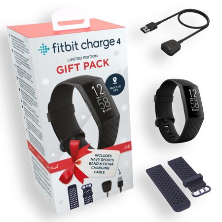 Smartband Fitbit Charge 4 w Zestawie z opaską i ładowarką
