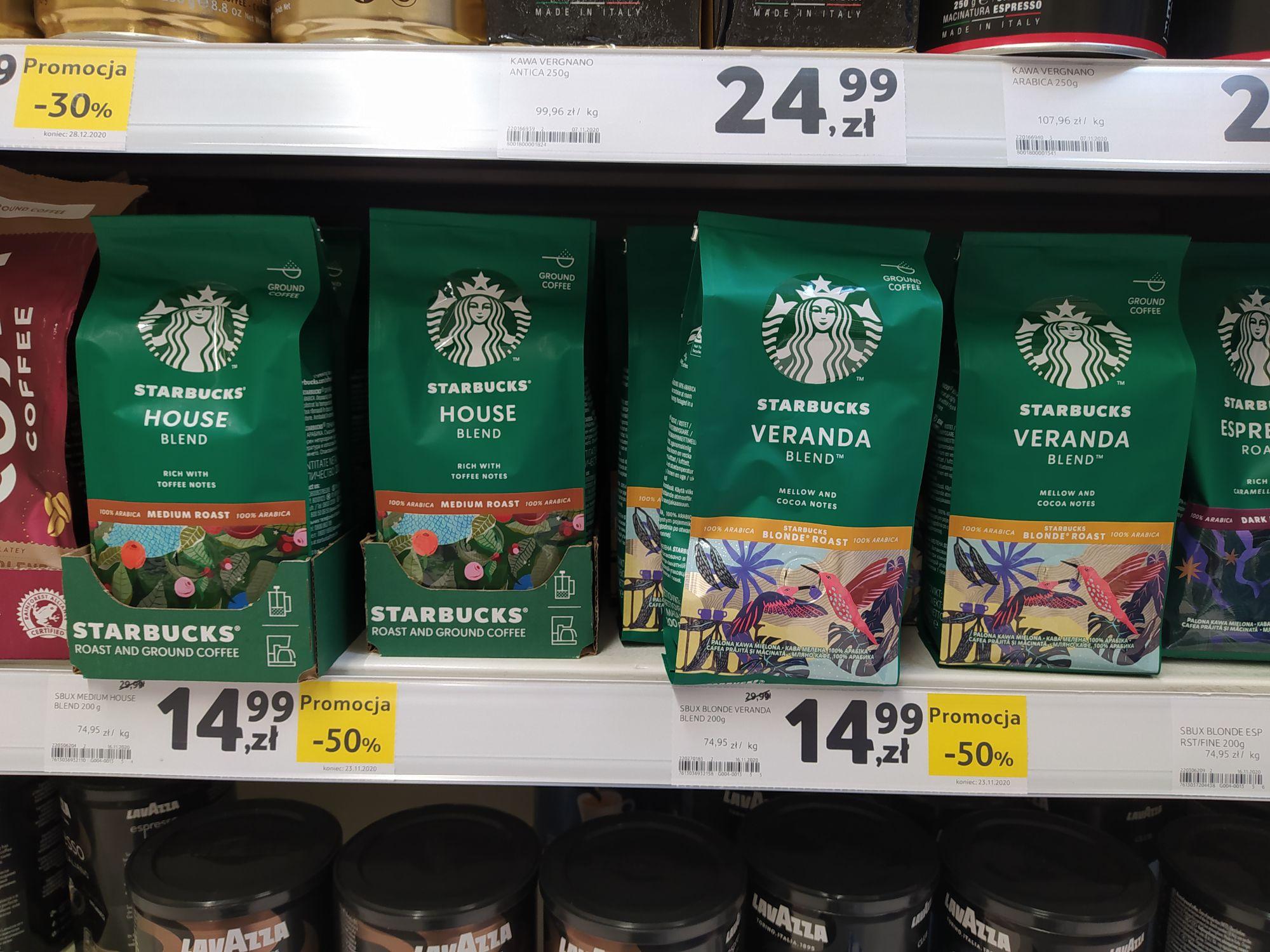 Kawa mielona Starbucks 200g tofi oraz kakao
