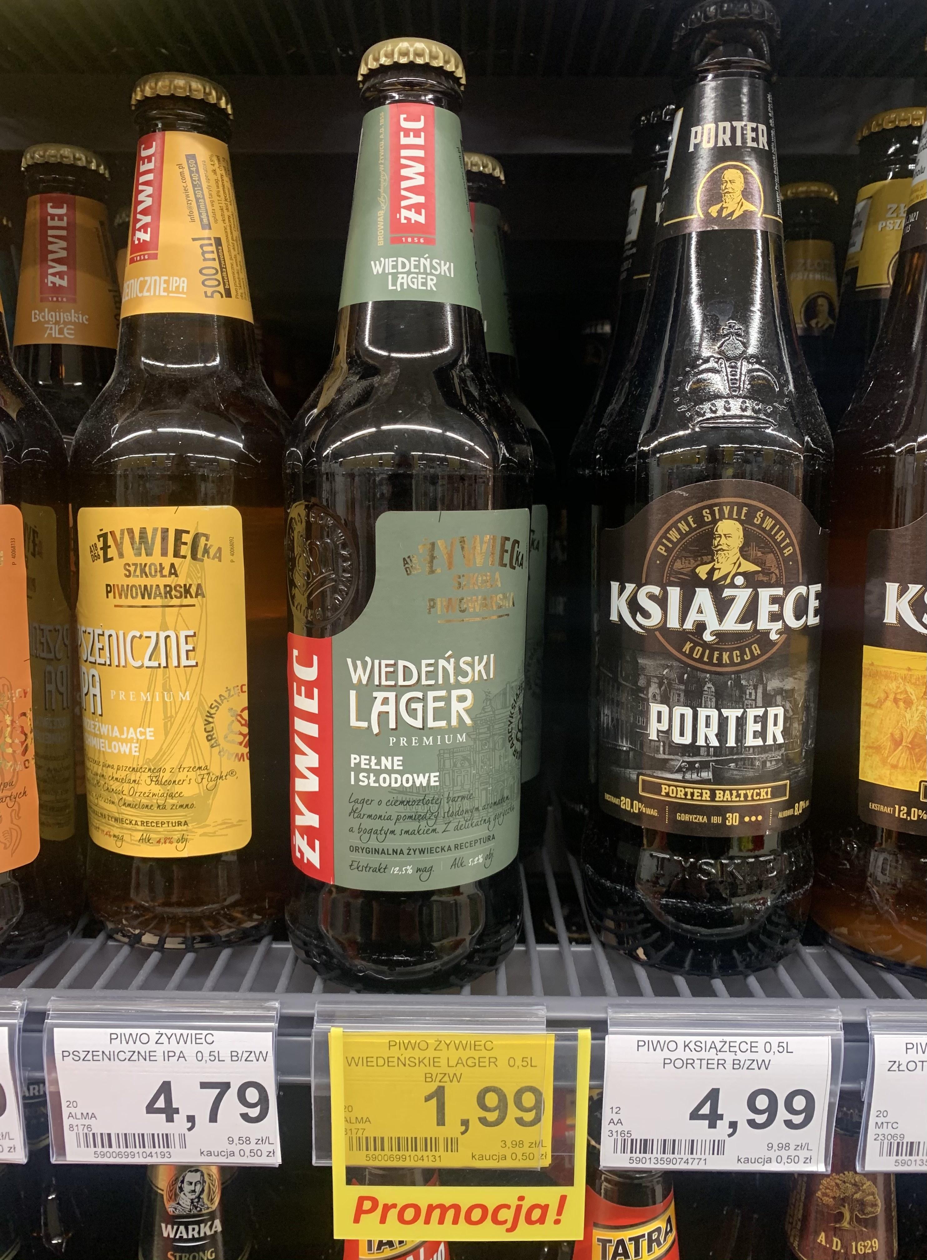 Piwo Żywiec Wiedeński Lager 0,5 l Lewiatan Sędziszów