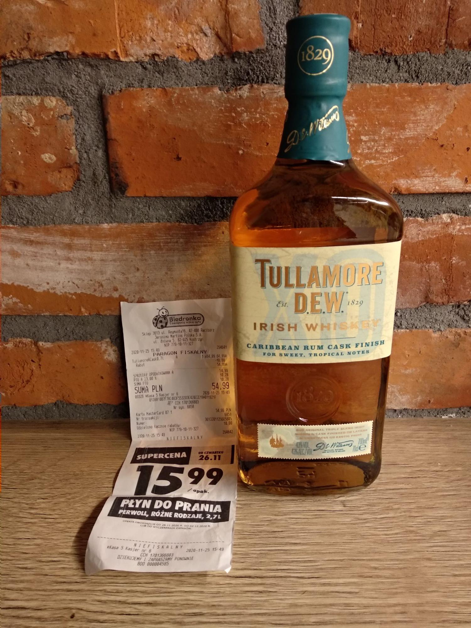 Whiskey Tullamore Dew XO Rum Cask Finish 0,7l
