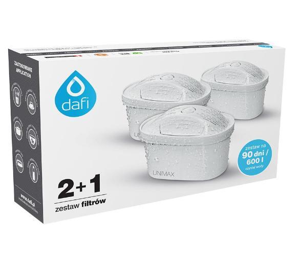 Filtr do wody (x3) Dafi Unimax Standard 2+1 (zestaw 3 szt.) w dobrej cenie. Filtry na 90 dni z RTV Euro AGD