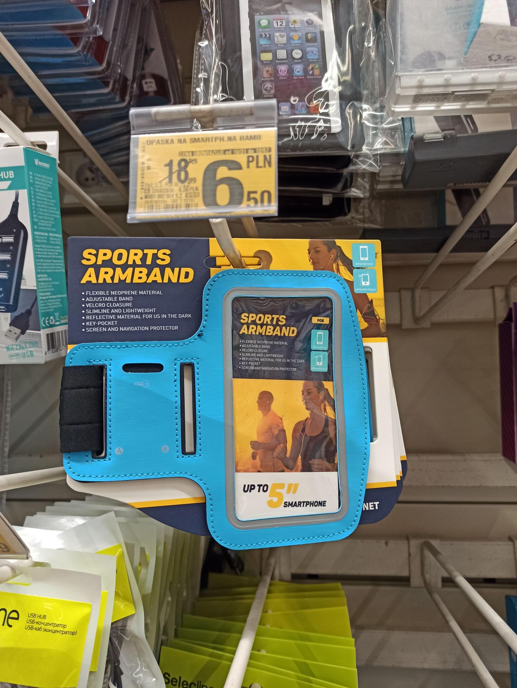 "Sportowa naramienna opaska na smartfona 5"""