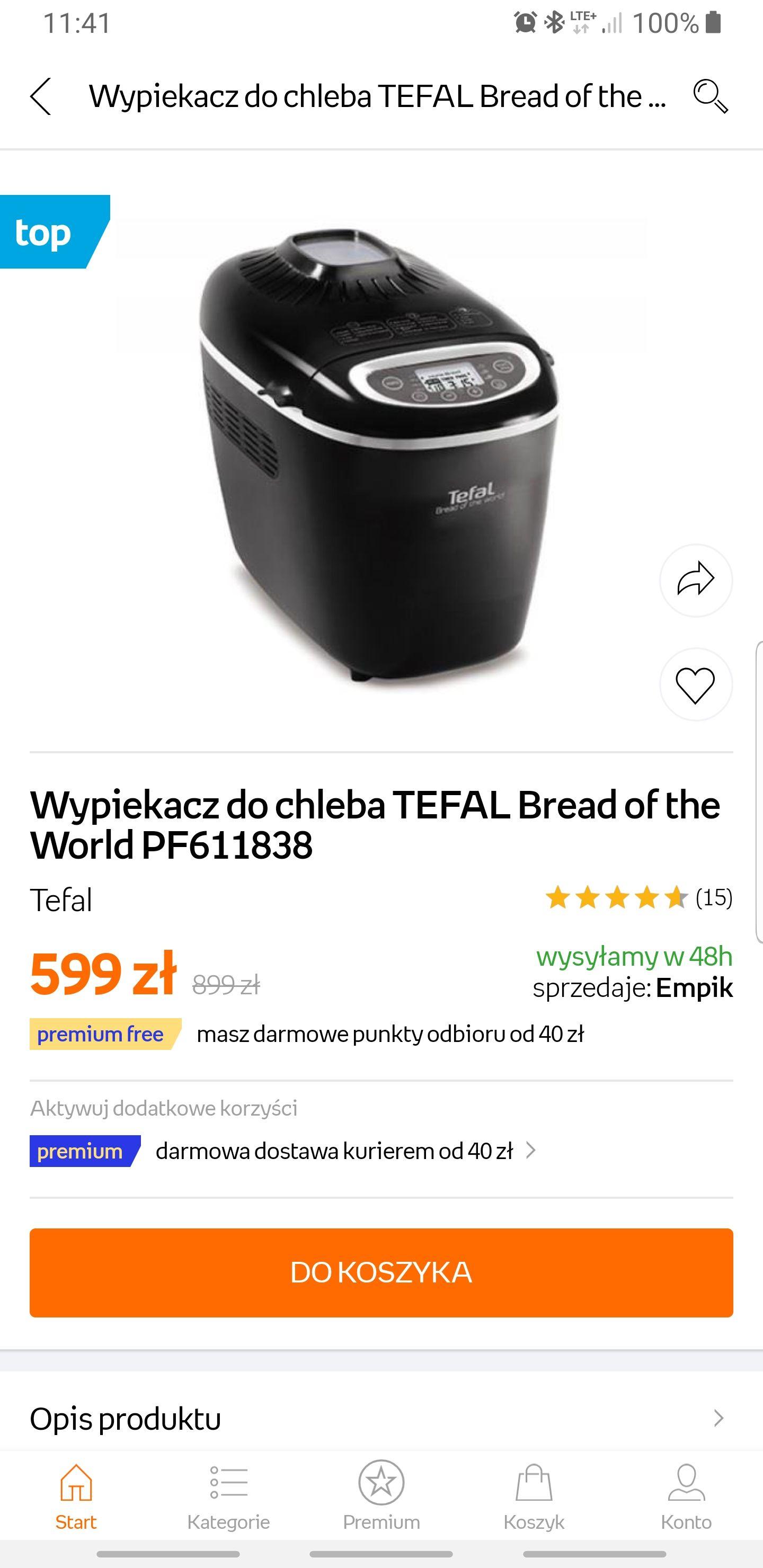 Wypiekacz do chleba TEFAL PF611838