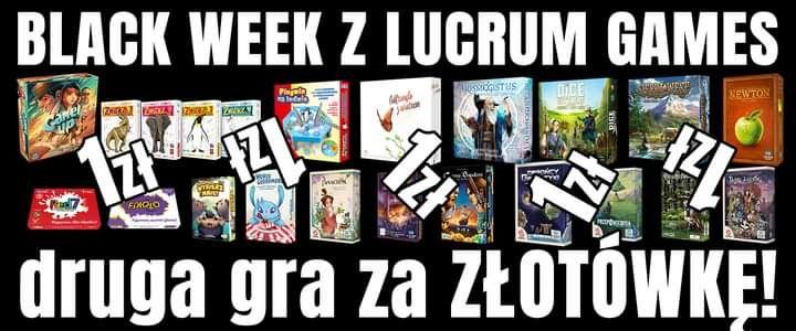 Druga gra planszowa Lucrum Games za złotówkę z okazji Black Week!