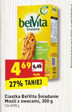 Ciastka Belvita za 4,69zł @Biedronka