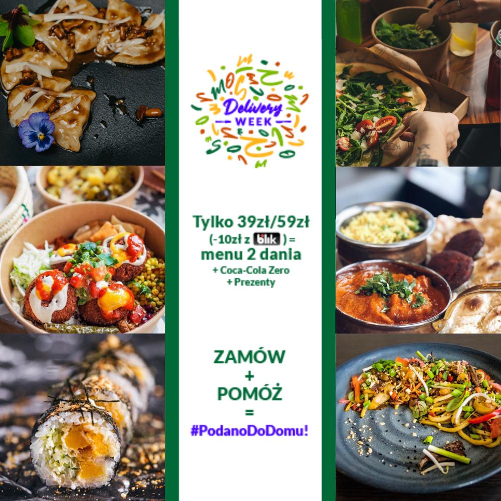 Delivery Week (RestaurantWeek) - jedzenie z dostawą za 39 zł