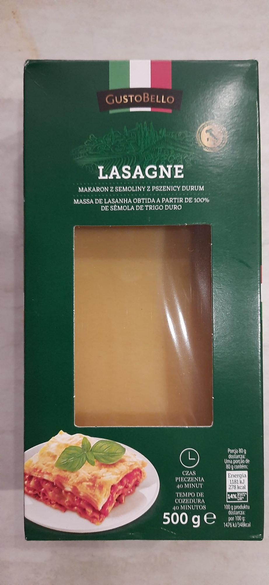 Lasagne makaron 500g, Gustobello, Biedronka