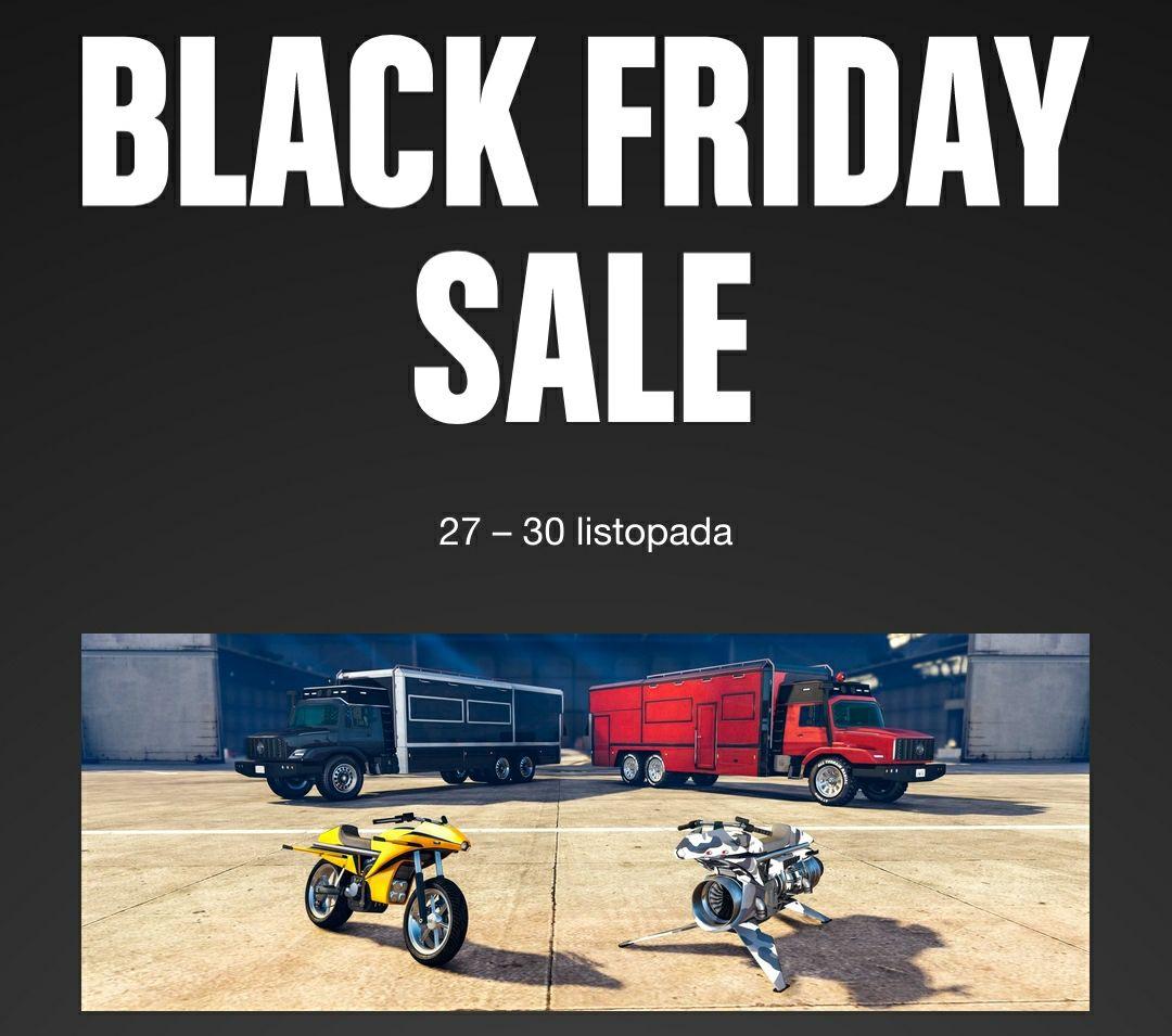 Black Friday w GTA Online - zniżki na pojazdy