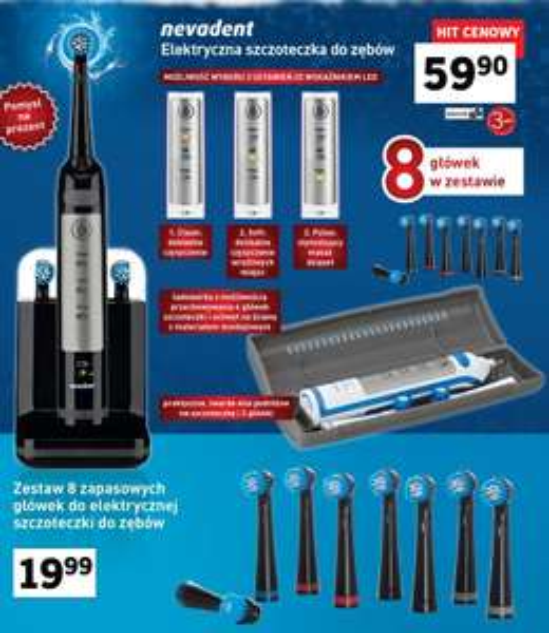 Elektryczna szczoteczka do zębów od 19.12 w Lidlu