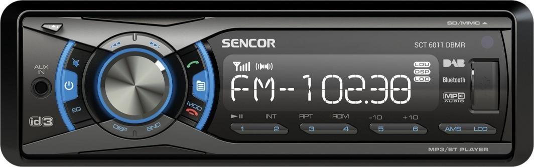 Radio samochodowe DAB+ bluetooth Sencor SCT 6011DBMR