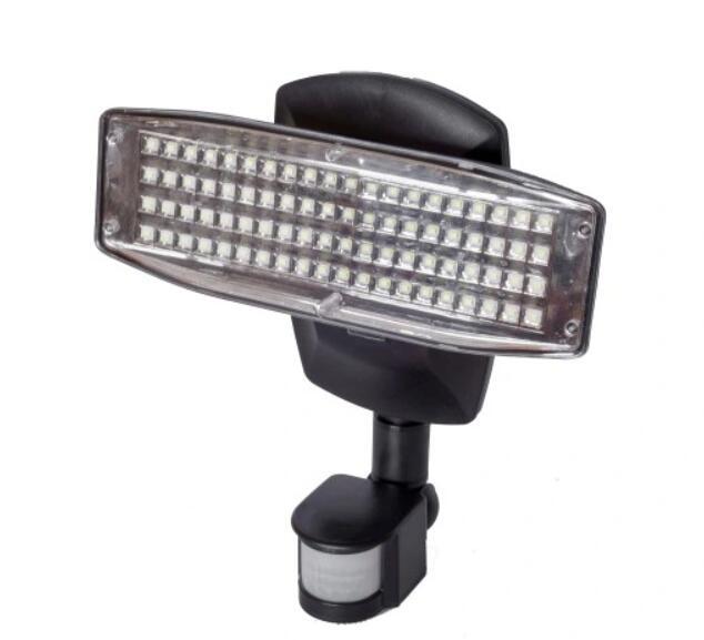 Lampa solarna 80 LED Halogen REFLEKTOR CZ. RUCHU