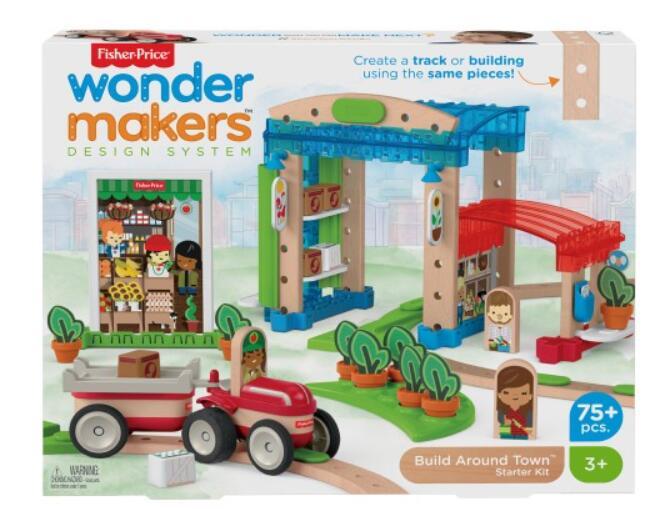 Fisher-Price Wonder Miasteczko drewniane i kolejka