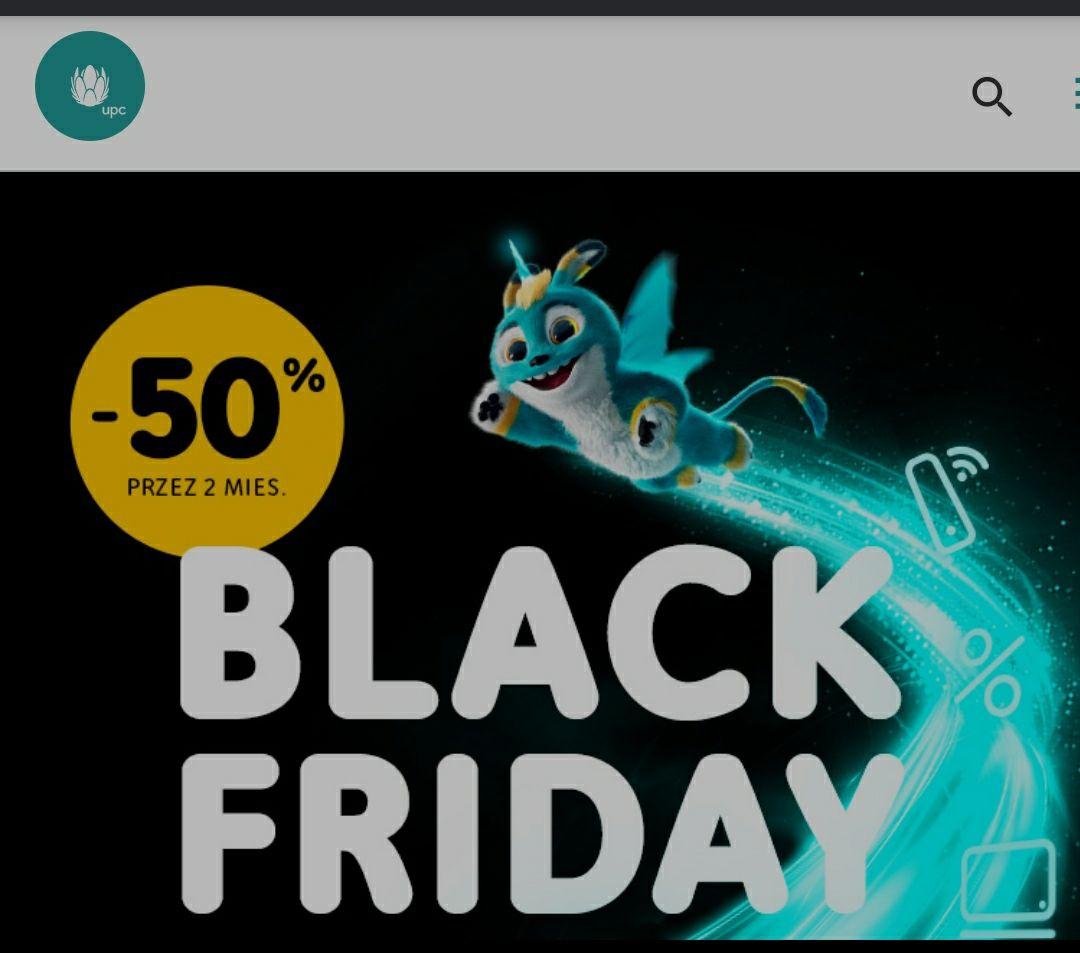 Promocja UPC Black Friday 2020 Internet TV