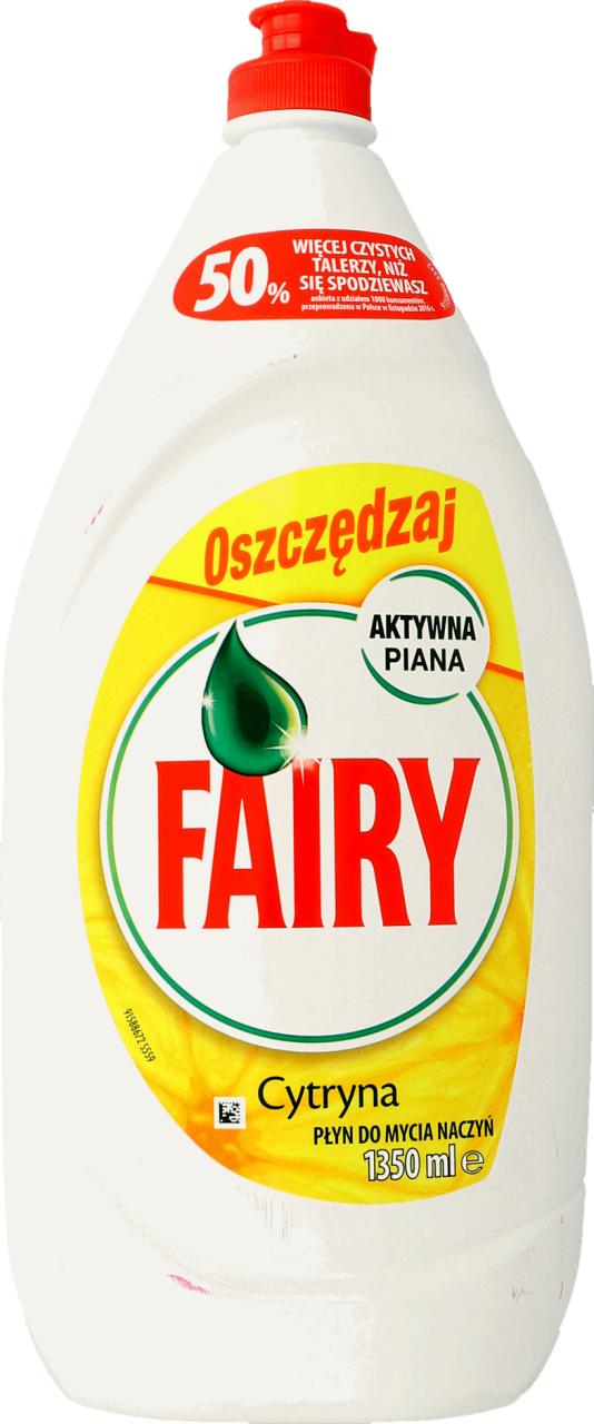 Płyn do mycia naczyń Fairy 1350ml cytrynowy oraz jabłkowy 900ml 3,49zł Rossmann