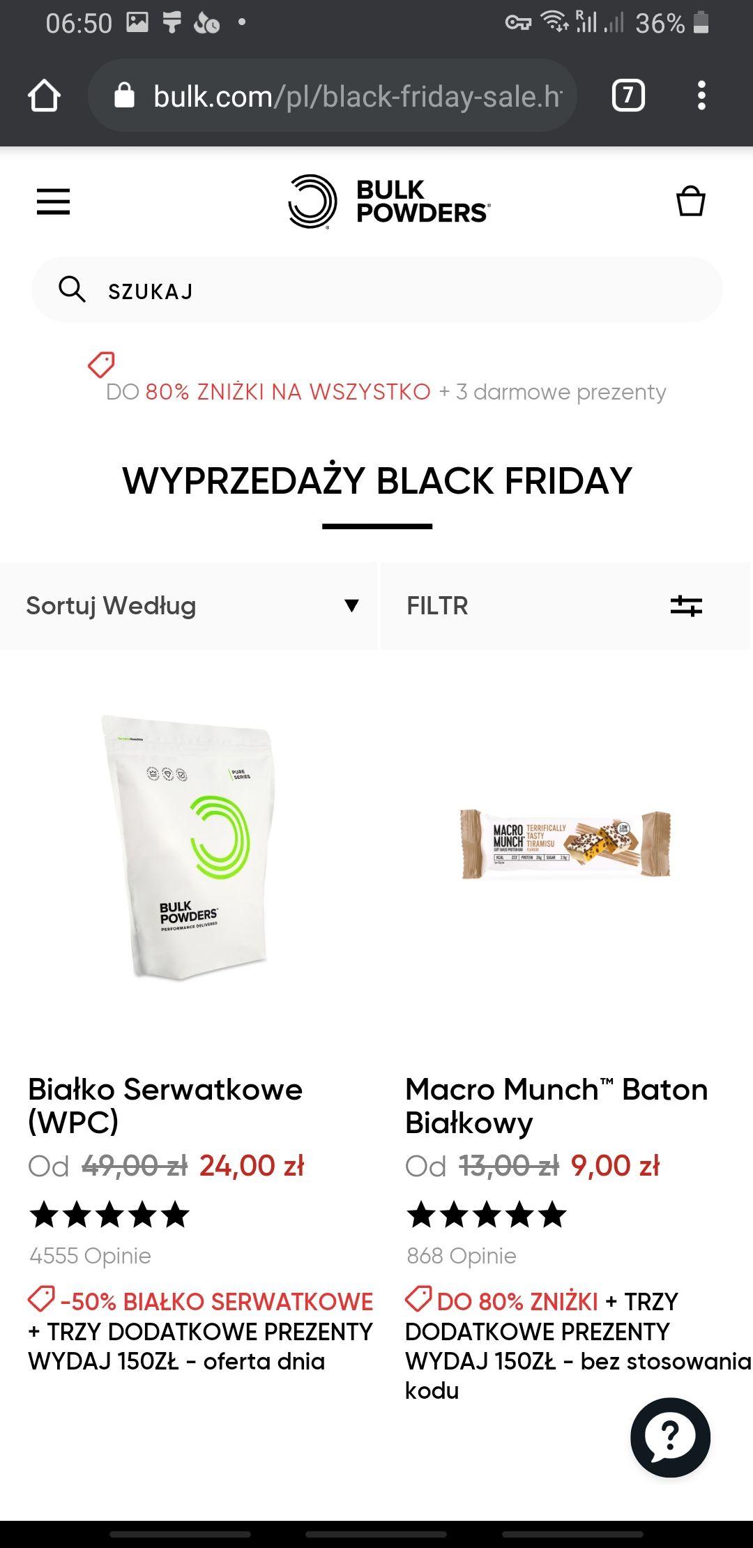 BULK POWDERS - suple - masła orzechowe - białko - zdrowa żywność - vege