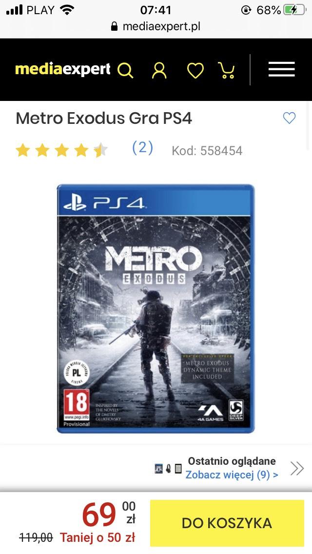 Metro Exodus PS4 (Media Expert)