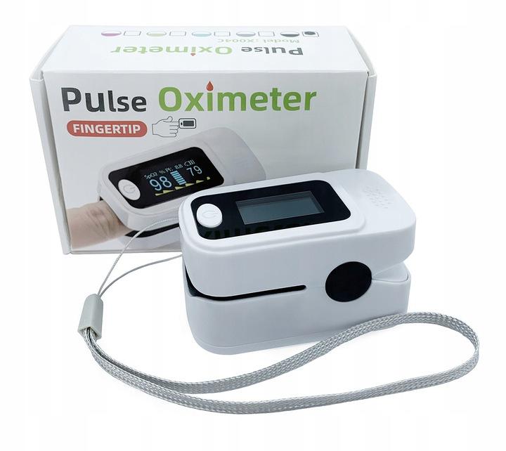Pulsoksymetr napalcowy medyczny|Smycz&Baterie