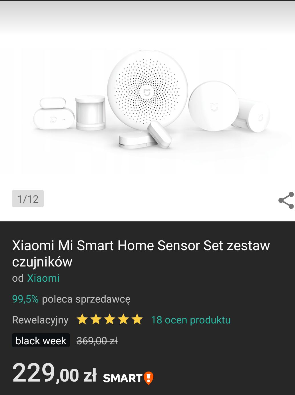 Xiaomi Mi Smart Home Sensor Set zestaw czujników