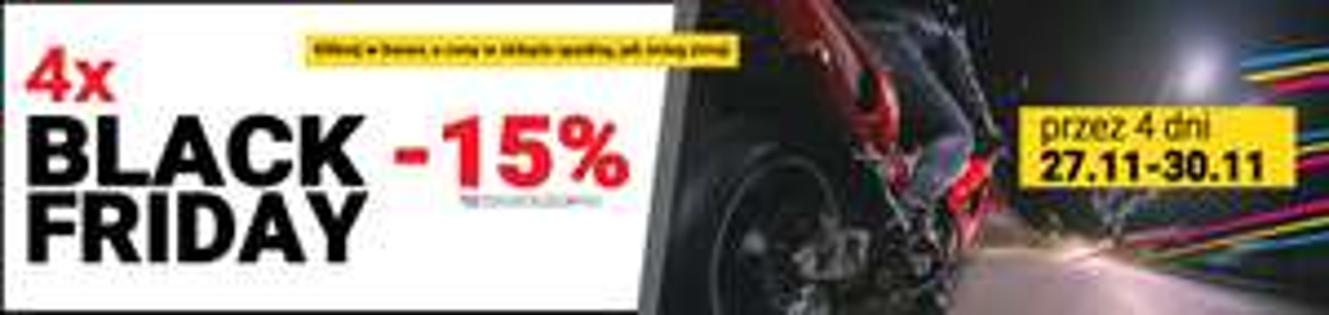 -15% na cały asortyment sklepu motocyklowego Defender.net.pl