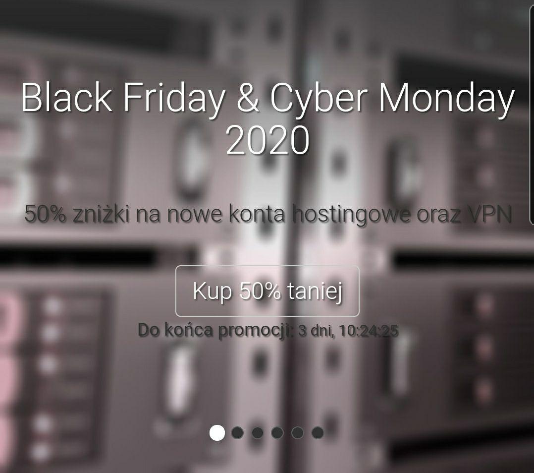 Mydevil.net Hosting lub VPN 50% taniej Black Friday