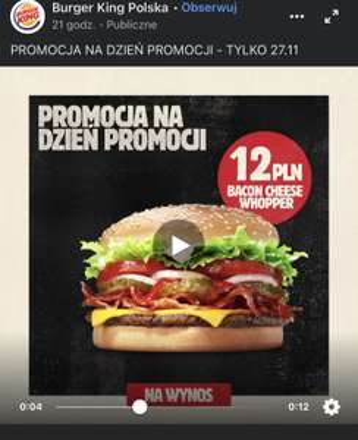 Black Friday Burger king