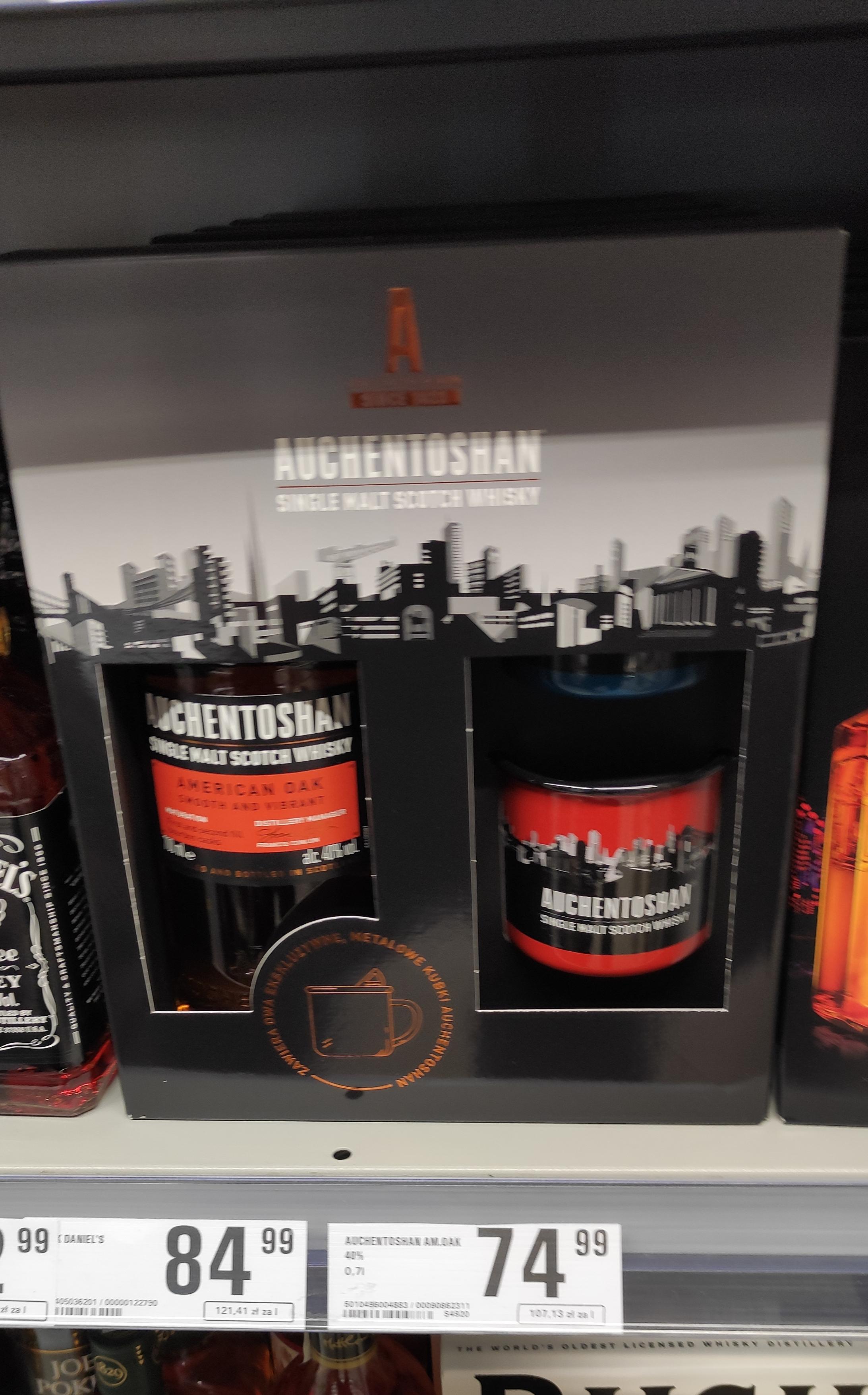 Whisky Single Malt Auchentoshan 0,7 + 2 kubki w Netto