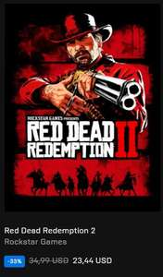 Red Dead Redemption II (PC Epic Games Store Mołdawia - VPN)